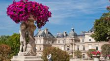 Luxembourg gardens ornamental statue, Paris